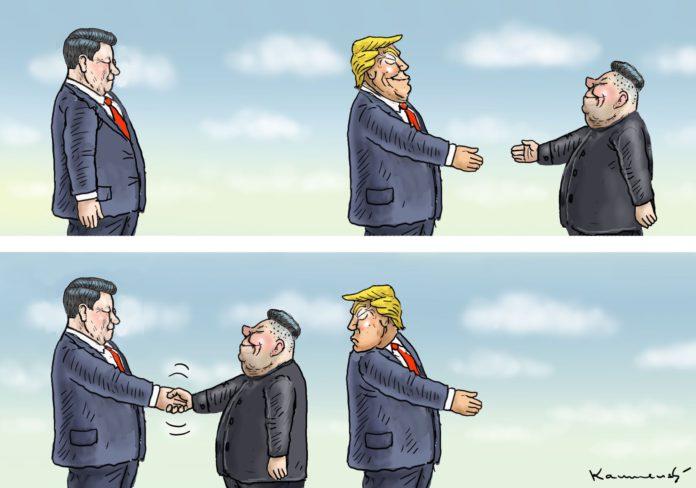 Xi Jinping, Donald Trump und Kim Jong-un.