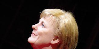 Angela Merkel als Wachsfigur in Berlin.