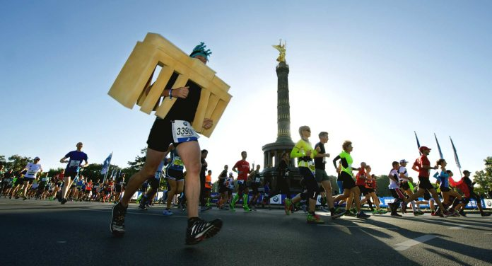 Marathon in Berlin.