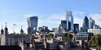 Ein Blick auf die City of London.