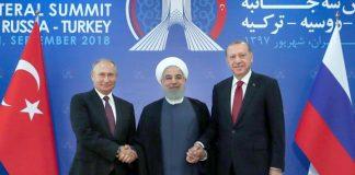 Putin, Rohani und Erdogan in Teheran Anfang September 2018.