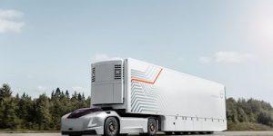 E-LKW, echt autonom. Von Volvo Trucks.