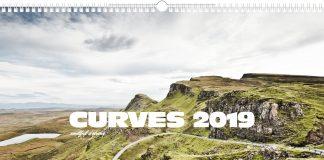"""Der Kalender """"Curves 2019"""" von Stefan Bogner."""
