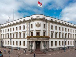 Ein Blick auf den Hessischen Landtag in Wiesbaden.