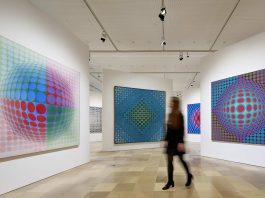 """Ausstellung """"Victor Vasarely. Im Labyrinth der Moderne"""" im Städelmuseum in Frankfurt am Main."""