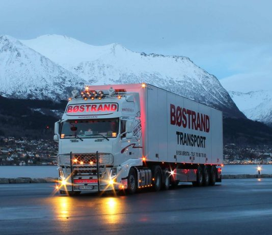 Ein Fahrzeug von Volvo Trucks in Norwegen.