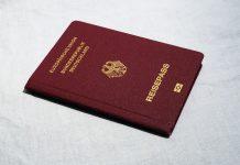 Ein Reisepass.