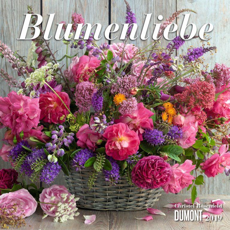 """Zwölf farbenfrohe Blumensträuße – Zum 2019er Broschürenkalender """"Blumenliebe"""" von Christel Rosenfeld"""