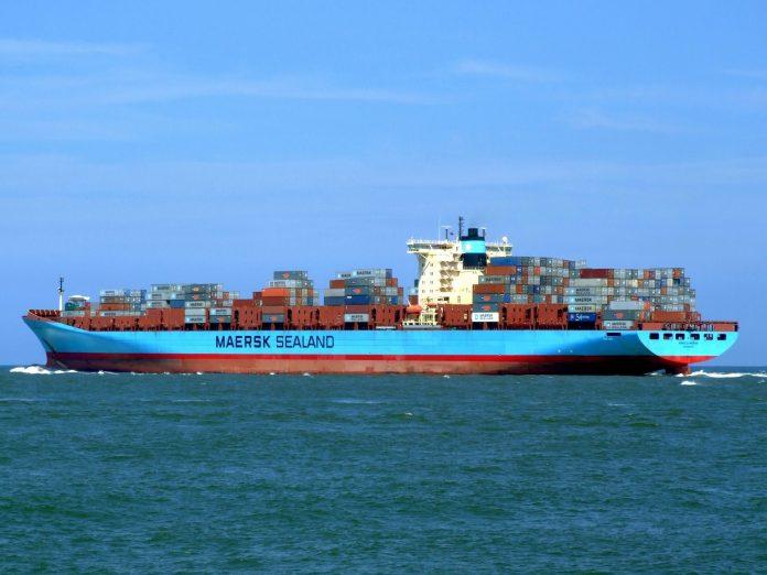 Ein Containerschiff namens Maersk Sealand
